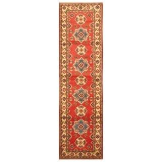 Handmade Kazak Wool Rug (Afghanistan) - 2'9 x 9'10