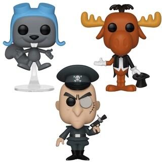 Funko POP! Animation Rocky & Bullwinkle Collectors Set - Magician Bullwinkle, Flying Rocky, Bullwinkle Fearlessleader