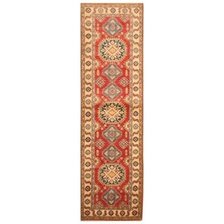 Handmade Kazak Wool Rug (Afghanistan) - 2'10 x 10'2
