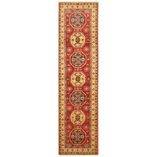 Handmade Kazak Wool Rug (Afghanistan) - 2'6 x 9'3