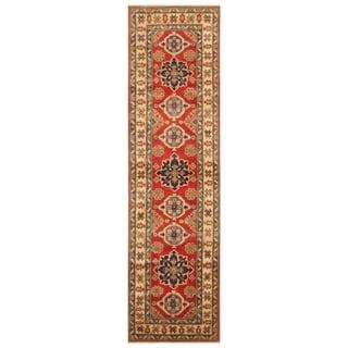 Handmade Kazak Wool Rug (Afghanistan) - 2'9 x 10'1