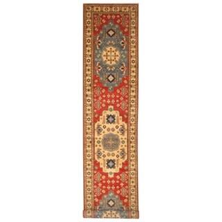 Handmade Kazak Wool Rug (Afghanistan) - 2'9 x 13'5
