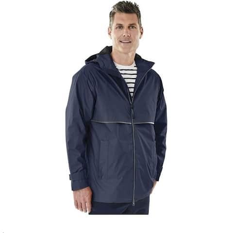 Charles River Men's Englander Rain Jacket Navy/Grey