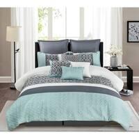 Belinda Comforter King Size Set in Blue (As Is Item)