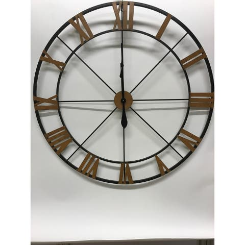 Handmade Wrought Iron Wall Clock
