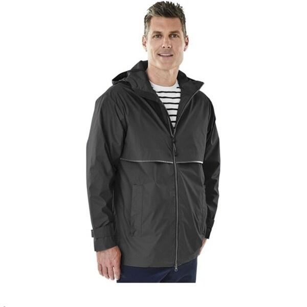 Charles River Men's Englander Rain Jacket Black