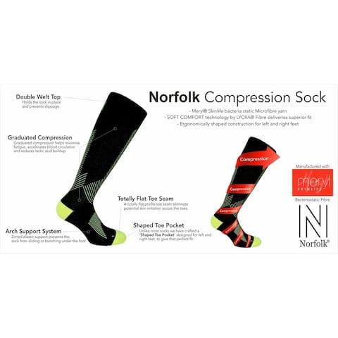 Norfolk® 1PK Sport Compression Anti-Bacterial Mens Sock