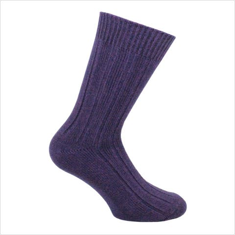 Norfolk® 1PK Ribbed Cotton Bamboo Blend Mens Crew Sock
