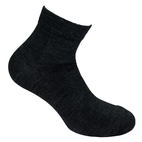 Norfolk® 2PK Ultra Light Merino Wool Quarter Sock