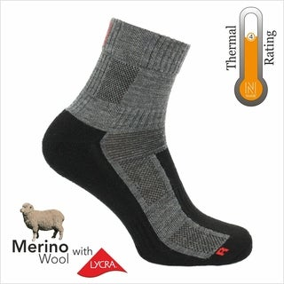 Norfolk® 2PK Lightweight Cushioned Merino Wool Quarter Sock