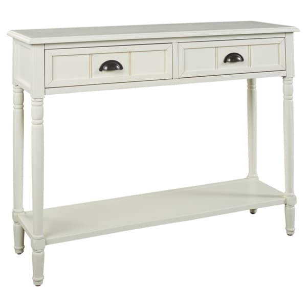 Shop Goverton White Console Sofa Table