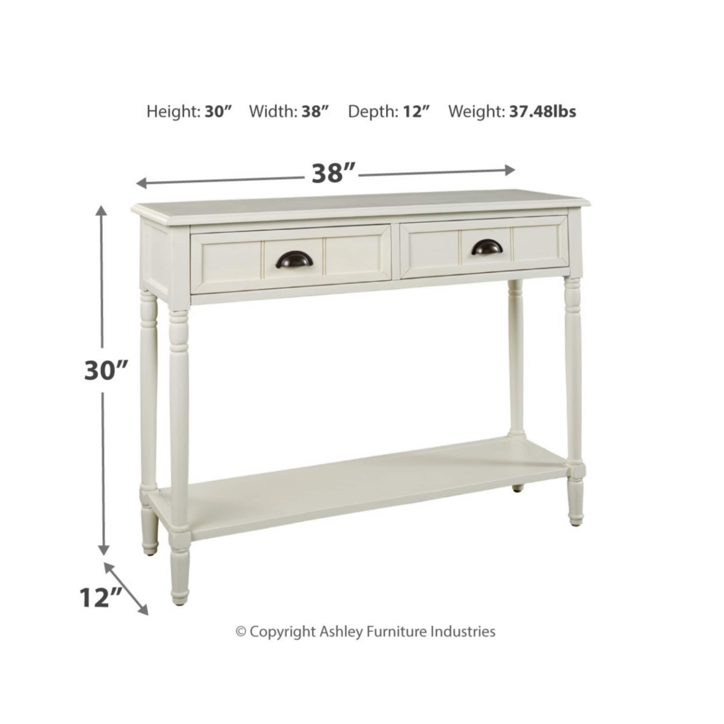 Amazing Goverton White Console Sofa Table Spiritservingveterans Wood Chair Design Ideas Spiritservingveteransorg