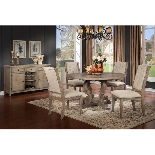 Shop Best Master Furniture Round Rustic Natural 5-piece