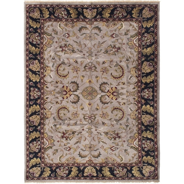 ECARPETGALLERY Hand-knotted Royal Mahal Light Grey Wool Rug - 8'9 x 11'8