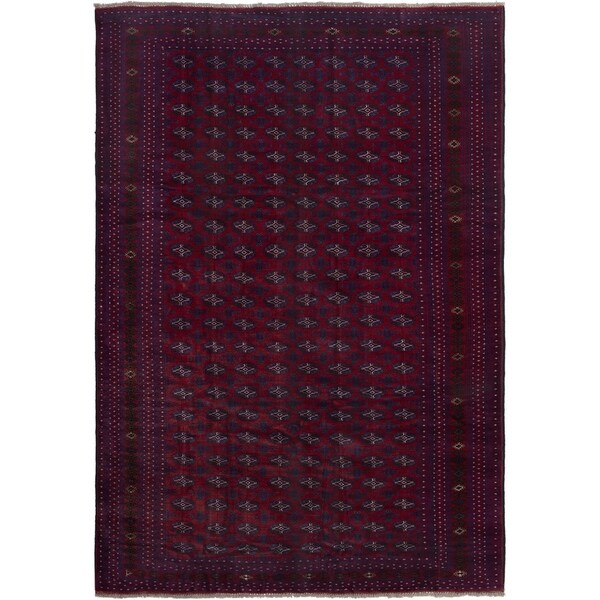eCarpetGallery Rizbaft Red Wool Handmade Area Rug - 6'10 x 9'10