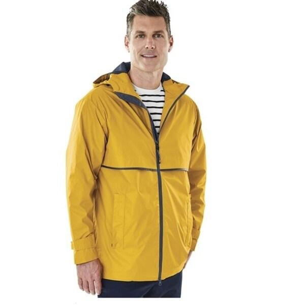 Charles River Mens Englander Rain Jacket Yellow