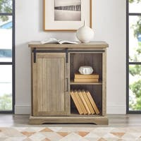 The Gray Barn Kujawa Sliding Groove Door Console - 32 x 16 x 32h