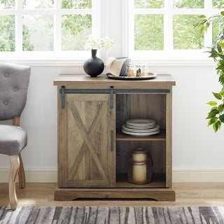 "32"" Sliding Barn Door Console - 32 x 16 x 32h"