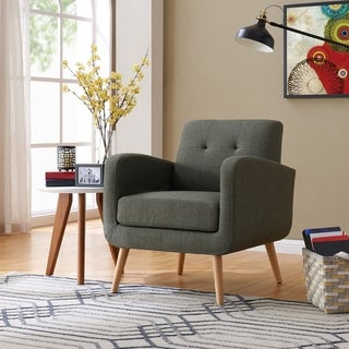 Link to Carson Carrington Klaipeda Mid-century Modern Arm Chair Similar Items in Living Room Chairs
