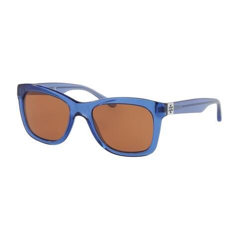 c680a36ccb40b Tory Burch Rectangle TY7118 Women s CRYSTAL BLUE Frame AMBER Eyeglasses