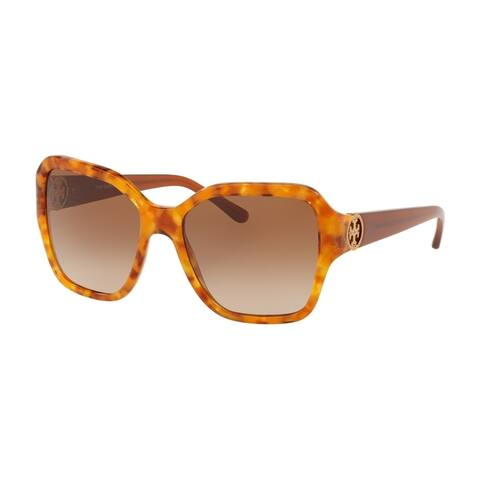 Tory Burch Square TY7125 Women's AMBER TORT Frame BROWN GRADIENT DARK BROWN Eyeglasses