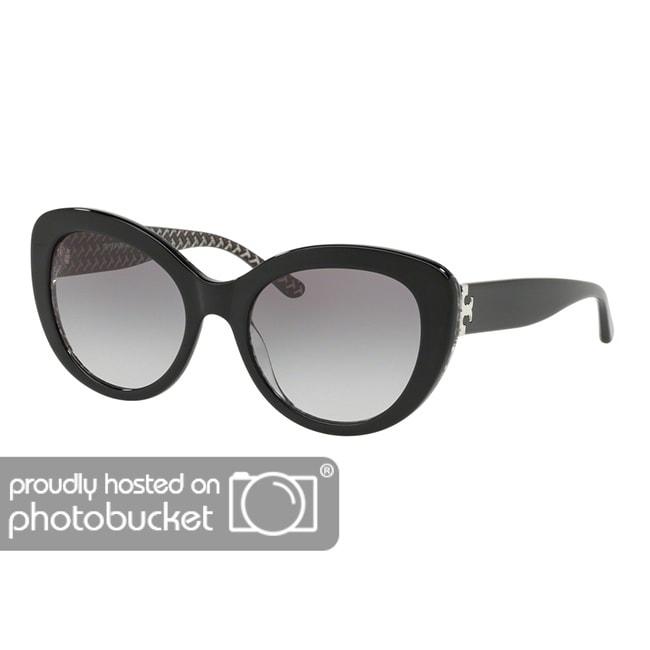 18612759d Shop Tory Burch Cat Eye TY7121 Women's BLACK/BLACK WHITE ZIG ZAG PRIN Frame  GREY GRADIENT Eyeglasses - Free Shipping Today - Overstock - 25490352