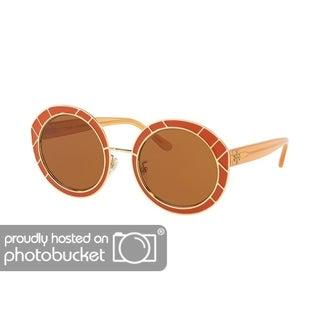 Tory Burch Round TY6062 Women's VINTAGE ORANGE / GOLD Frame SOLID BROWN Eyeglasses