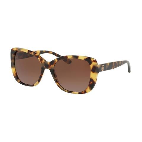 79c03985a3d4 Tory Burch Rectangle TY7114 Women's TOKYO TORT Frame BROWN GRADIENT POLARIZED  Eyeglasses