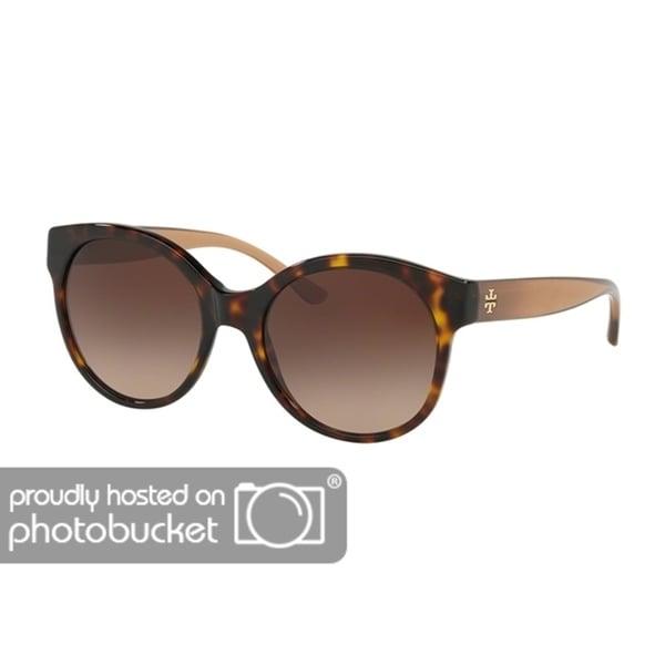 cb791fdaa3ad Shop Tory Burch Round TY7123 Women's DARK TORT Frame DARK BROWN GRADIENT  Eyeglasses - Free Shipping Today - Overstock - 25490368