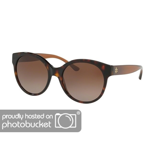 b9b18c5ad Shop Tory Burch Round TY7123 Women's DARK TORT Frame BROWN GRADIENT  POLARIZED Eyeglasses - Free Shipping Today - Overstock - 25490372