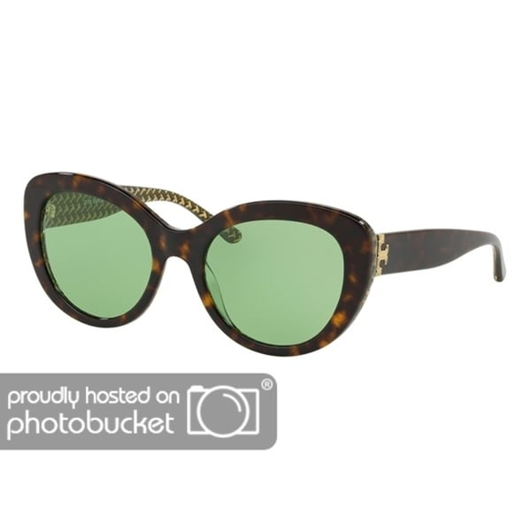 709f8169c4b Shop Tory Burch Cat Eye TY7121 Women s DARK TORT   GREEN ZIG ZAG T PR Frame  SOLID GREEN Eyeglasses - Free Shipping Today - Overstock - 25490394