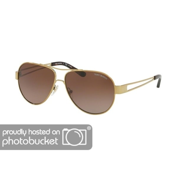 484f43d59c84 Shop Tory Burch Pilot TY6060 Women's GOLD Frame BROWN GRADIENT POLARIZED  Eyeglasses - Free Shipping Today - Overstock - 25490397