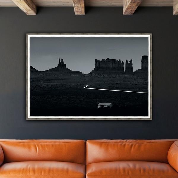 Back Country Framed Print - Black