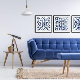 Link to Cobalt Tile VI Framed Print - Blue Similar Items in Art Prints
