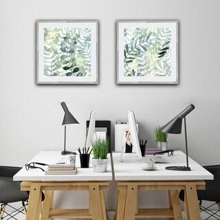 Gossamer Palms II Framed Print - Green
