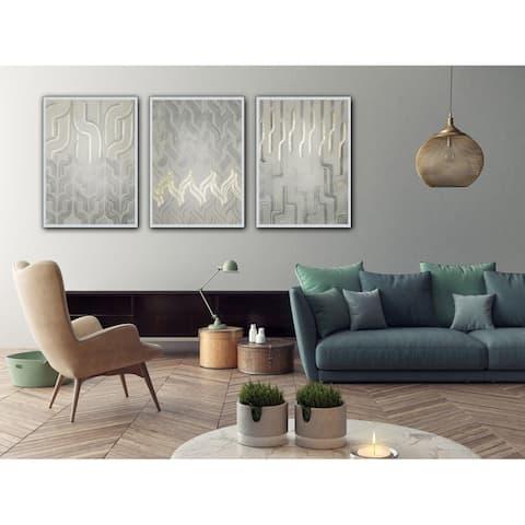 Chenille I Framed Print - Grey