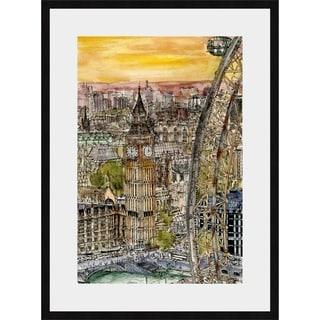 City Scene IV Framed Print - Brown