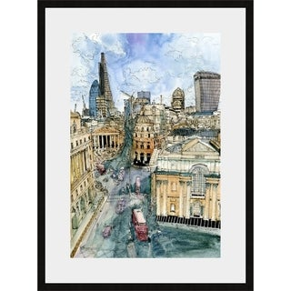 Link to City Scene III Framed Print - Blue Similar Items in Art Prints
