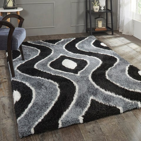 Superior Ogee Shag Hand-Tufted Area Rug