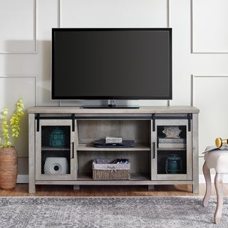 "58"" Sliding Mesh Door TV Stand Console - 58 x 16 x 28h"
