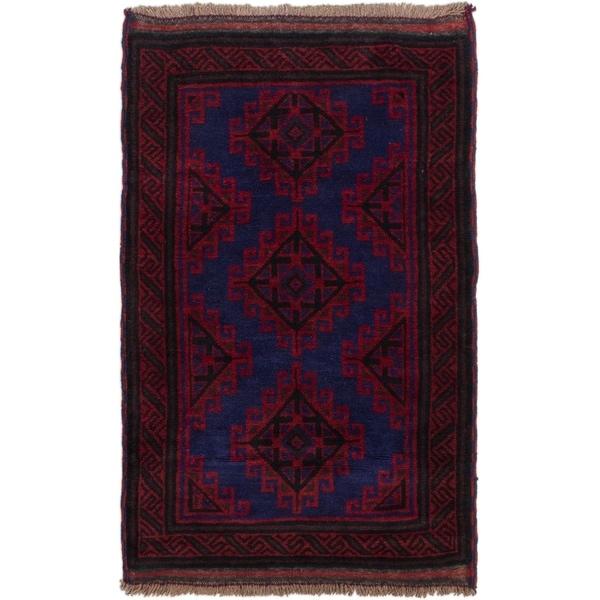 ECARPETGALLERY Hand-knotted Kazak Red Wool Rug - 2'9 x 4'6