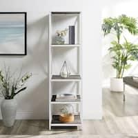 Carbon Loft Barnett 61-inch Tall X-frame White Metal Bookshelf