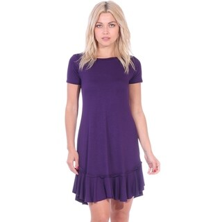 Women's Ruffle Hem Shift Dress