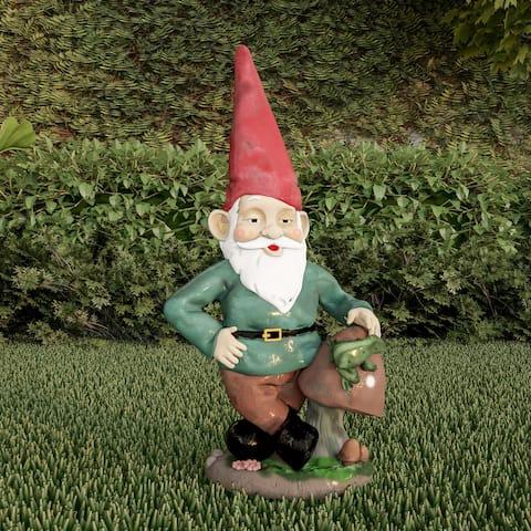 Lawn Gnome Statue-Fun Classic Style Resin Figurine by Pure Garden