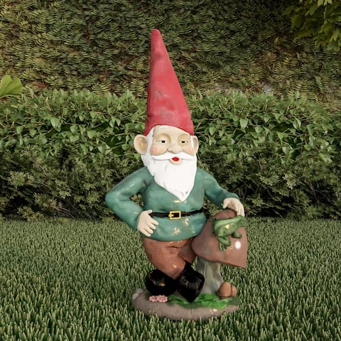 Lawn Gnome Statue-Fun Classic Style Resin Figurine by Pure Garden