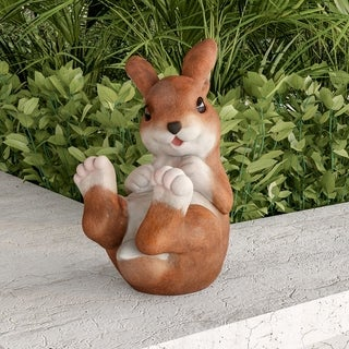 Bunny Rabbit Statue-Resin Animal Figurine  by Pure Garden