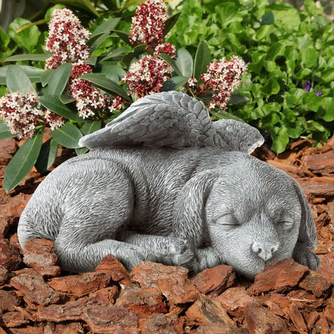 Pet Memorial Statue-Sleeping Angel Dog Remembrance Keepsake by Pure Garden