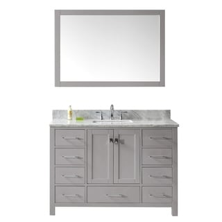 "Caroline Avenue 48"" Single Bathroom Vanity Set in Cashmere Grey"
