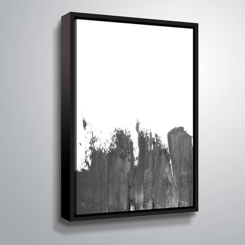 ArtWall 'Coal II' Gallery Wrapped Floater-framed Canvas