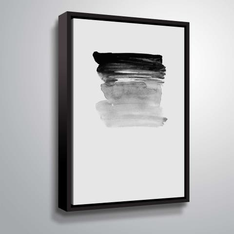 ArtWall 'Grey I' Gallery Wrapped Floater-framed Canvas